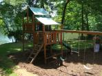 Large playground with slides, swings and forts!  A kid's paradise!