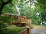 JULIAN LAKE LODGE on 320 acre Lake Julian and borders arcres of forest.  Quiet yet right in town!