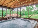 Hot tub is located in a separate building and it is well worth leaving the cabin to enjoy.