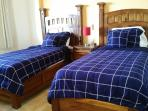 Guest Bedroom 2 with twin beds hotel can convert to King.
