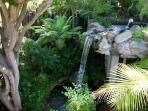 waterfall in tropical gardens