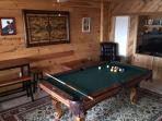 Game room - basement (pool, Xbox, 47 inch TV)