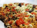 Piatto tipico, pizza rianella (rianata con mozzarella)