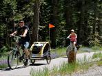 bike trail system is 2 blocks away