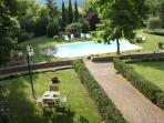 The garden and the pool