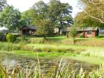 Brookview lodges overlooking wildlife pond