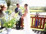 Say 'I do' on the veranda of Brookview lodge 2 when you get married at Ta Mill