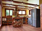 Wooden kitchen. Easy, complete, modern. Both see and mountain views. All is brand new.