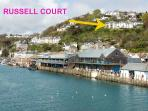 The perfect vantage point to watch the workings of Looe harbour