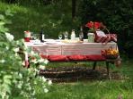 A secret picnic in the hidden garden