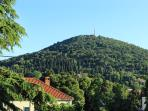 A view to Petka hill from terrace