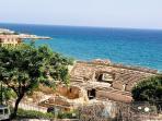 Vistas desde el Anfiteatro Romano de Tarragona.