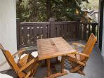 Exterior deck for sitting, resting and enjoying!