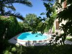 piscine vue du pool house