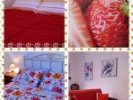Camere matrimoniali e divano letto