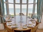 Dining area with views looking out to sea