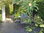 Fruit trees and shrubs in your own secluded private garden - ideal for al fresco dining