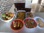 Delicious Jamaican food prepared by our cook, who specializes in international dishes as well!!