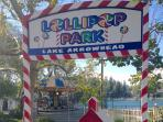 Lake Arrowhead Village with Lollipop Park for the kids.