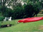 Free canoes when you stay at Liftlock B&B guest cottage