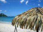 La plage de l'Anse Mitan