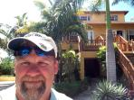 Picture of the owner Brian DeCoster in front of ProvoVilla