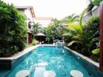 spacious private swimming pool