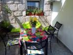 Dining table at the terrace