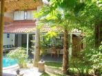 Villa, garden & pool