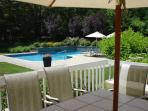 20' X 40' heated pool with beautiful gardens and large deck with new Weber luxury BBQ