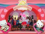 Customers from Jakarta shared photo taken at Hello Kitty Town, Puteri Habour