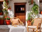 El Gato Negro cottage is in a quiet corner beneath the village square