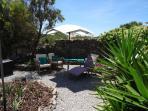 Patio backside garden