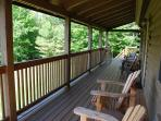 Connected to the deck, the front porch is a great place for your morning coffee!