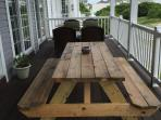 2nd floor deck, outside dining tables