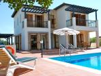 Spacious two bedroom villa with lovely views in peaceful location