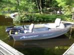 Rent our fishing boat for a day @ $85 or a week @ $400 (6 gal of gas included in the rate.