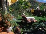 garden sunbathing