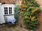 The charming enclosed courtyard
