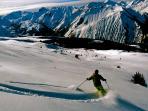 Off piste skiing St Martin de Belleville