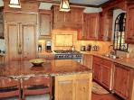 beautiful designer kitchen with subzero and wolf appliances