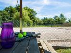 Full size tennis court; all equipment provided