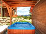 Private hot tub on lower level