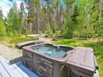 A brand new private hot tub to soak in