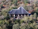 View of the lodge from the air