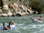 Water rafting at Saklikent Gorge