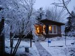 Winter at Valley's End is very romantic.. in front of the woodstove