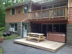 Deck, Picnic Table, and Hot Tub