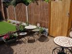 Patio with garden furniture