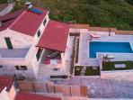 Villa Runje- stone beauty from the air